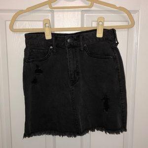 Distressed black jean skirt- NWOT!